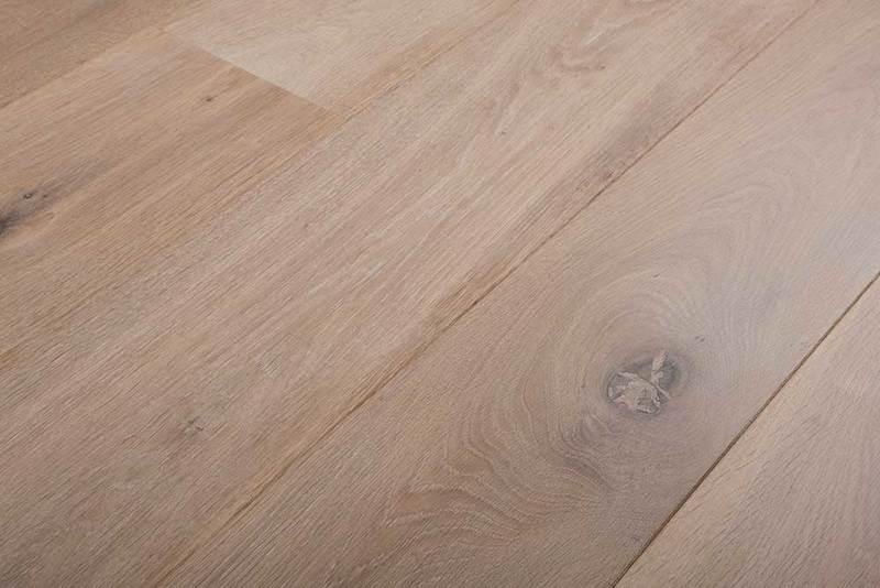 wooden flooring smoked white